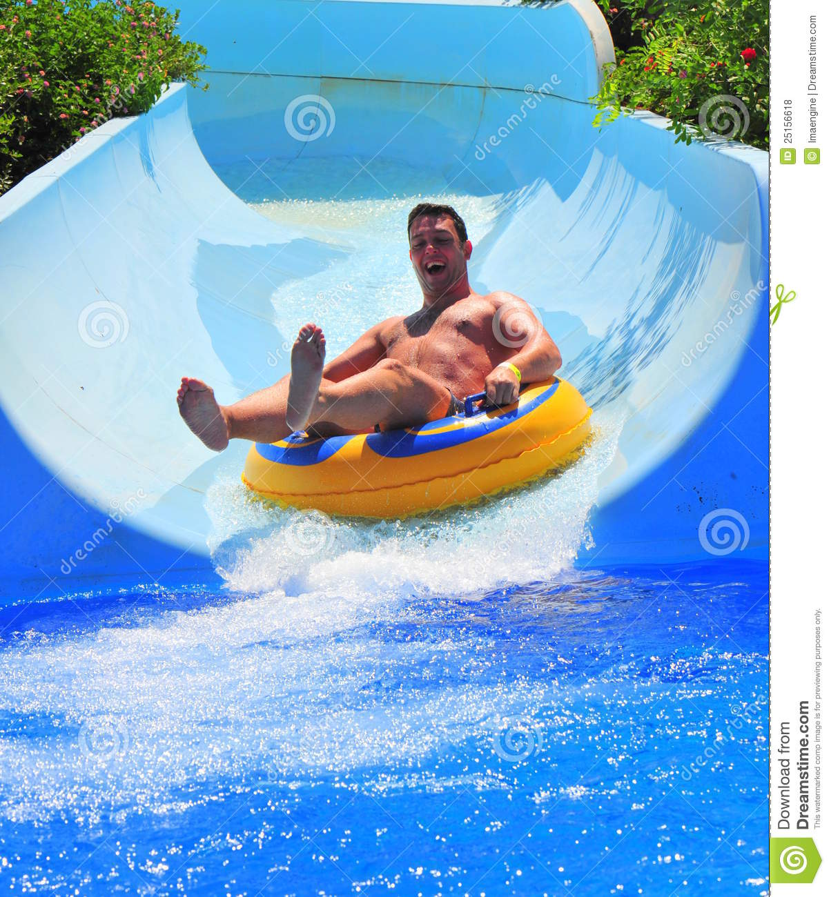 Water Slide At The Aqua Park Sumer Fun Stock Photo Image 25156618