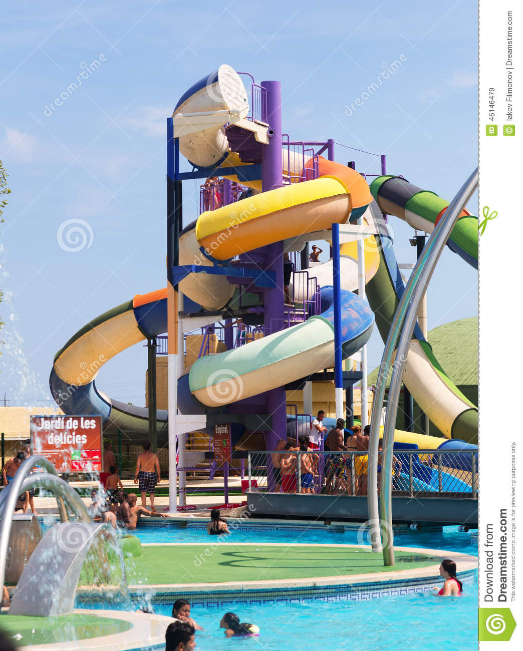 Water slide attraction editorial stock image image of - Swimming pools with waterslides in london ...