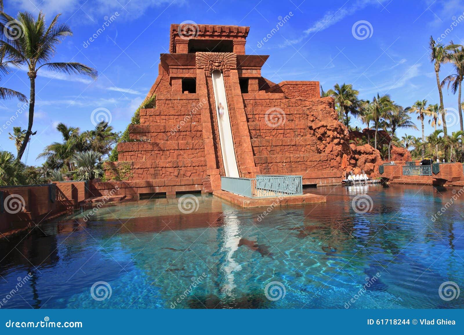 underwater water slide atlantis. royaltyfree stock photo download the water slide underwater atlantis