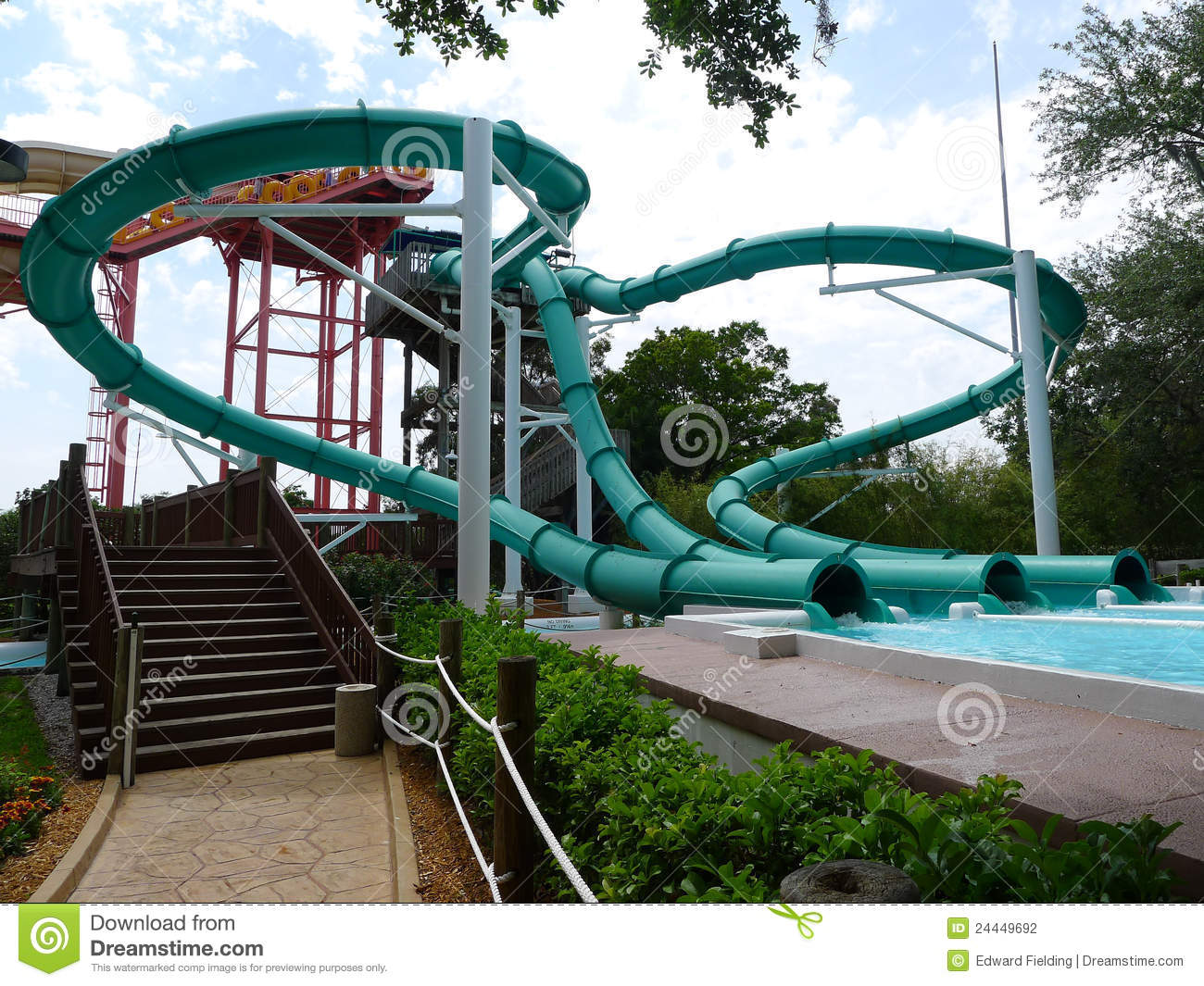 Water slides at water park stock photography image 24449692 Busch gardens tampa water park