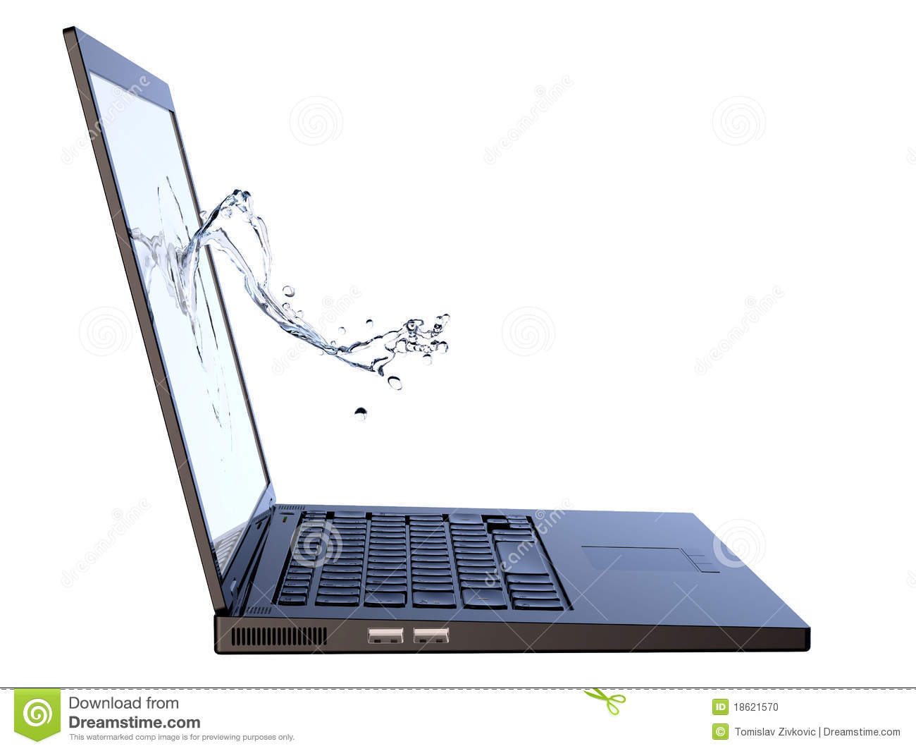 how to clean laptop screen with water