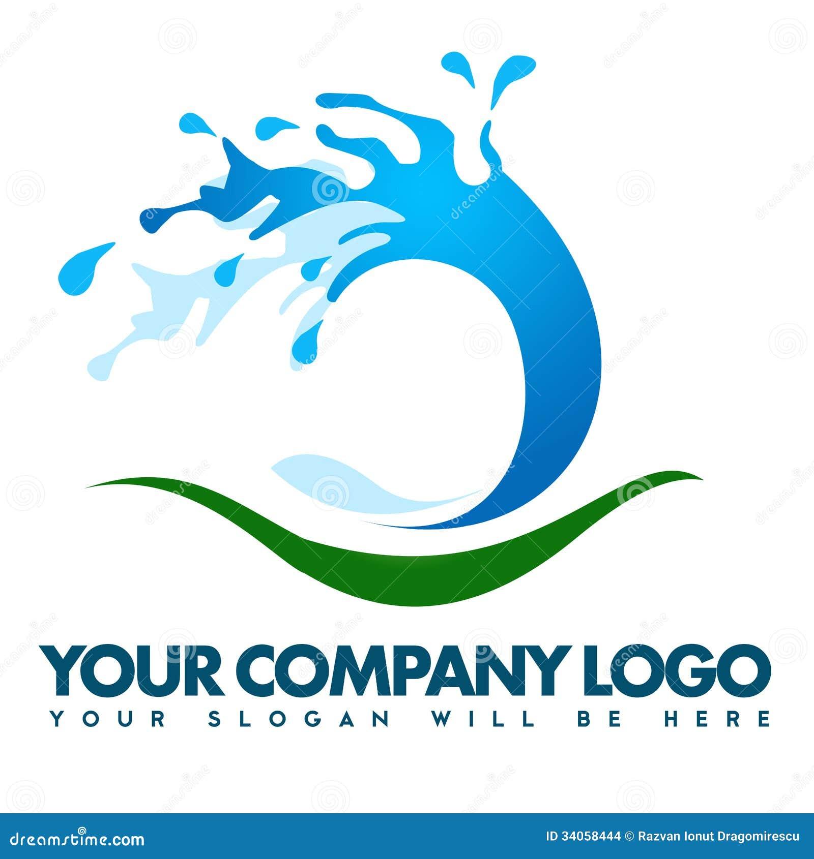 Water Splash Logo Stock Images - Image: 34058444