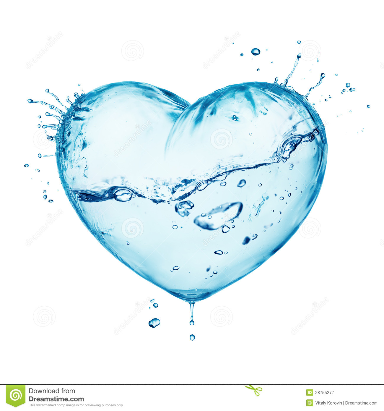 Water Splash Love Heart Royalty Free Stock Photography ...