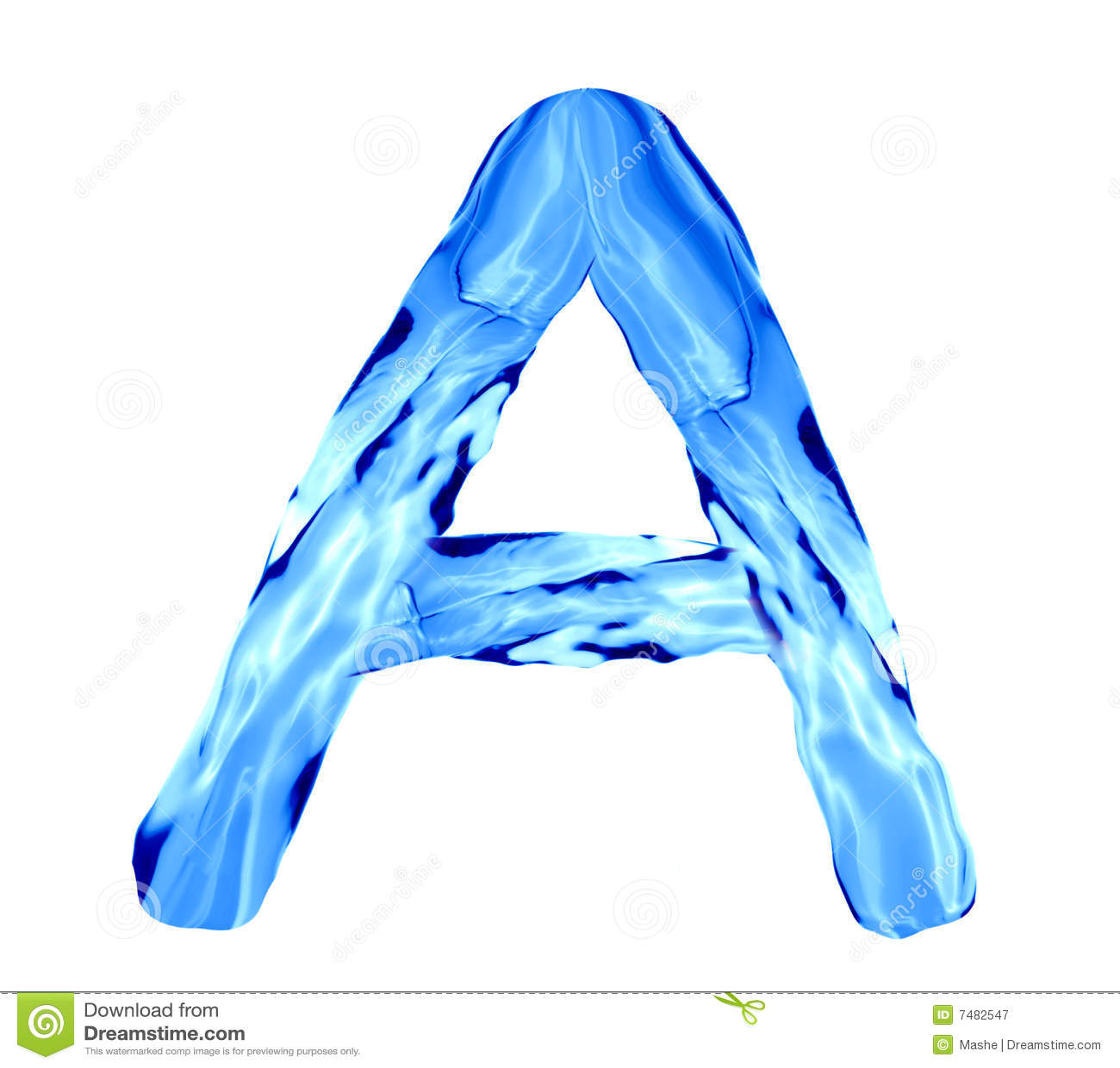 water splashing alphabet royalty free stock photography
