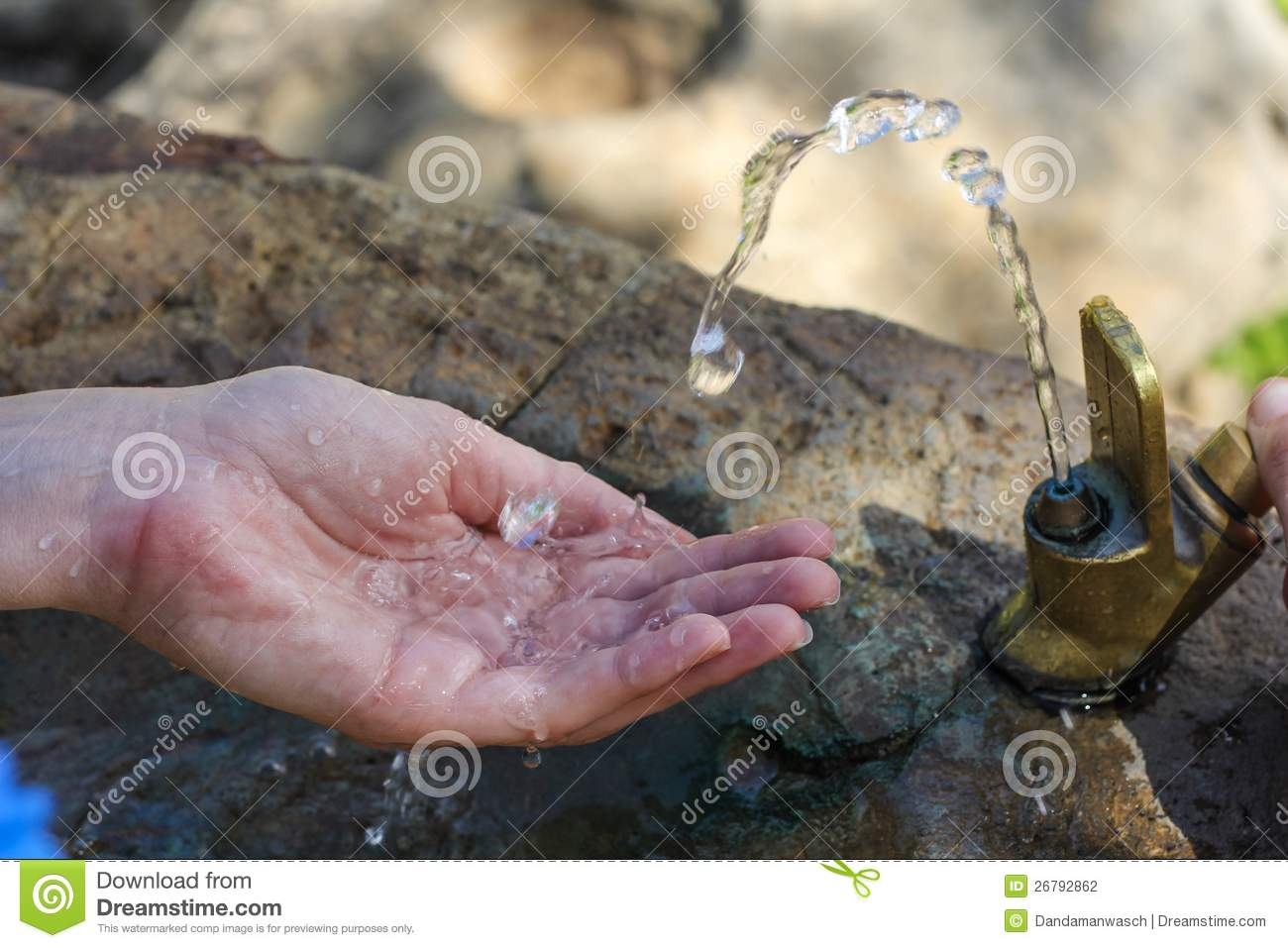 Drinking Water Faucet >> Water Coming Out Of Drinking Fountain Stock Image | CartoonDealer.com #91821013
