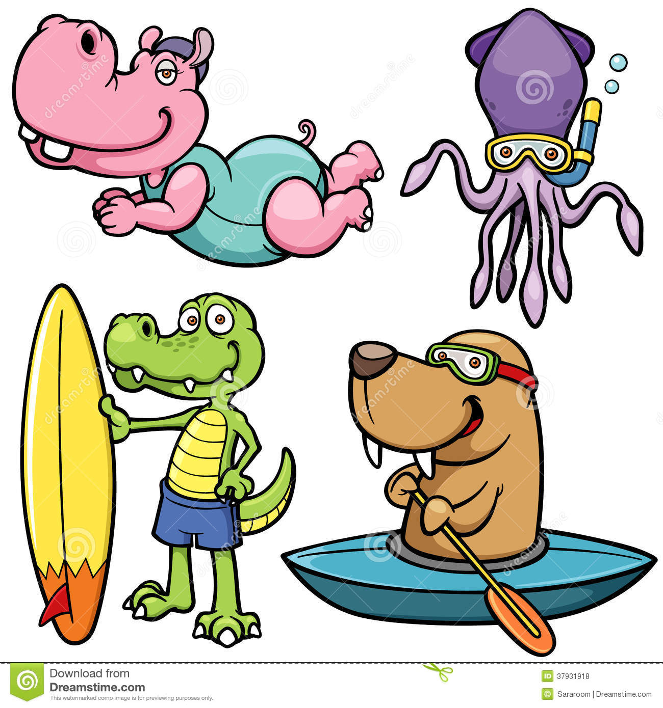 Water Sport Animal Character Royalty Free Stock Photos - Image ... Unique Person In A Crowd