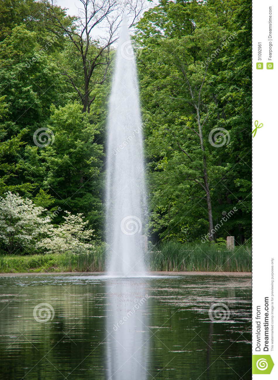 Water Spout in a Pond stock image. Image of spout, valley ...