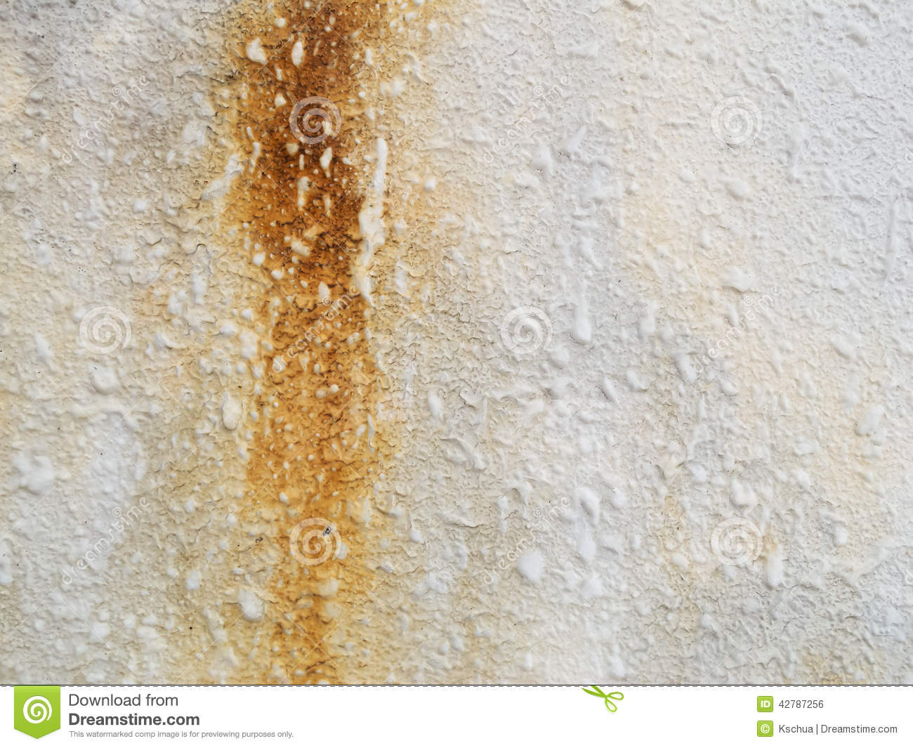 Water Stained Concrete Wall Stock Photo Image 42787256