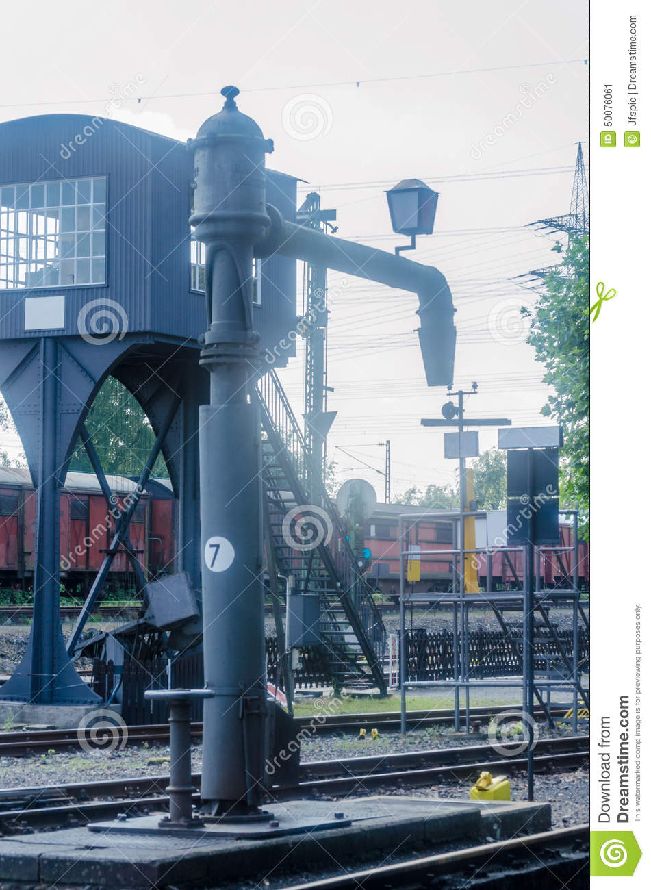 Water For Steam Locomotives Stock Image - Image of painted, fill ...