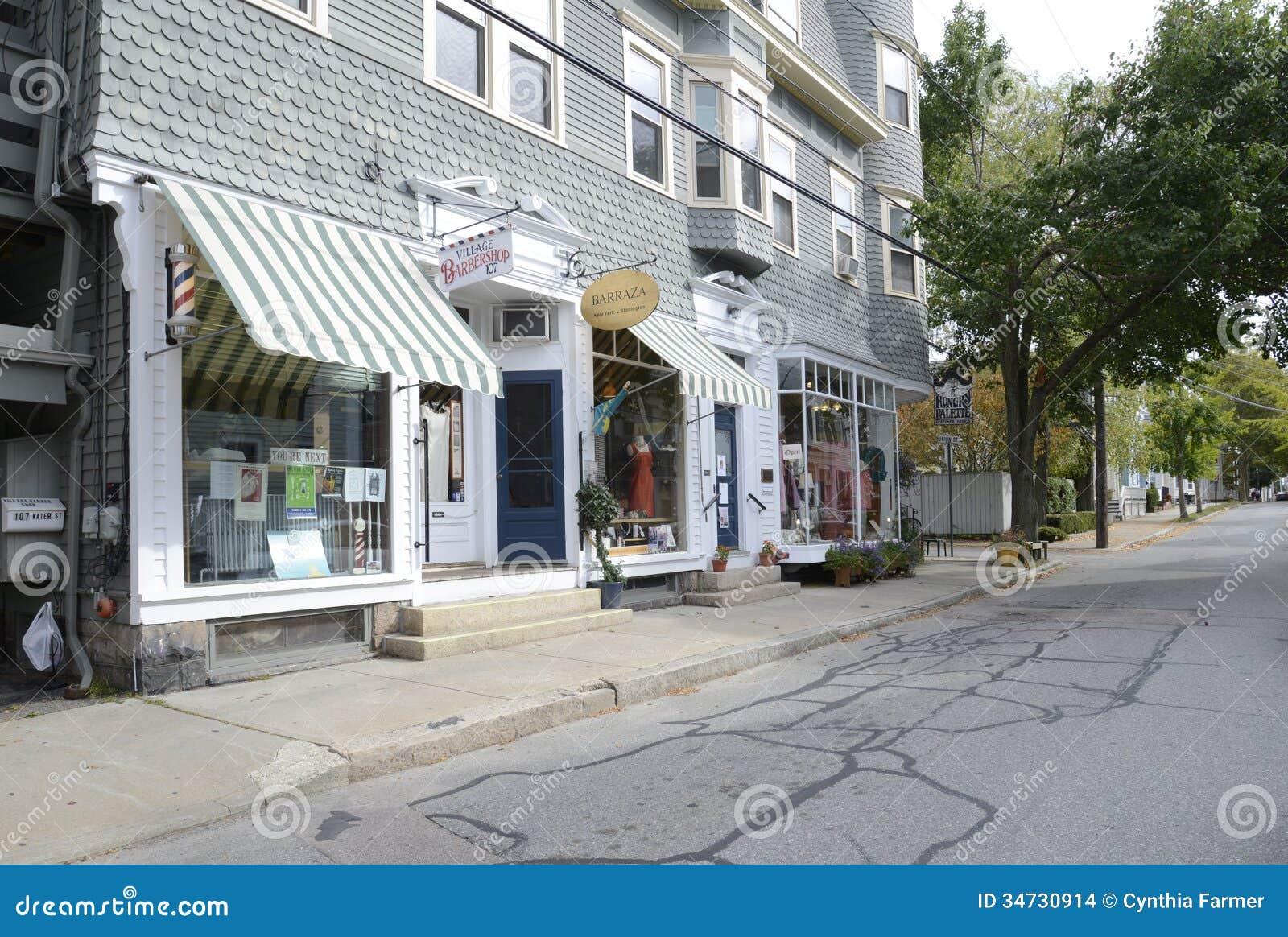 Water Street In Stonington Connecticut Editorial Stock