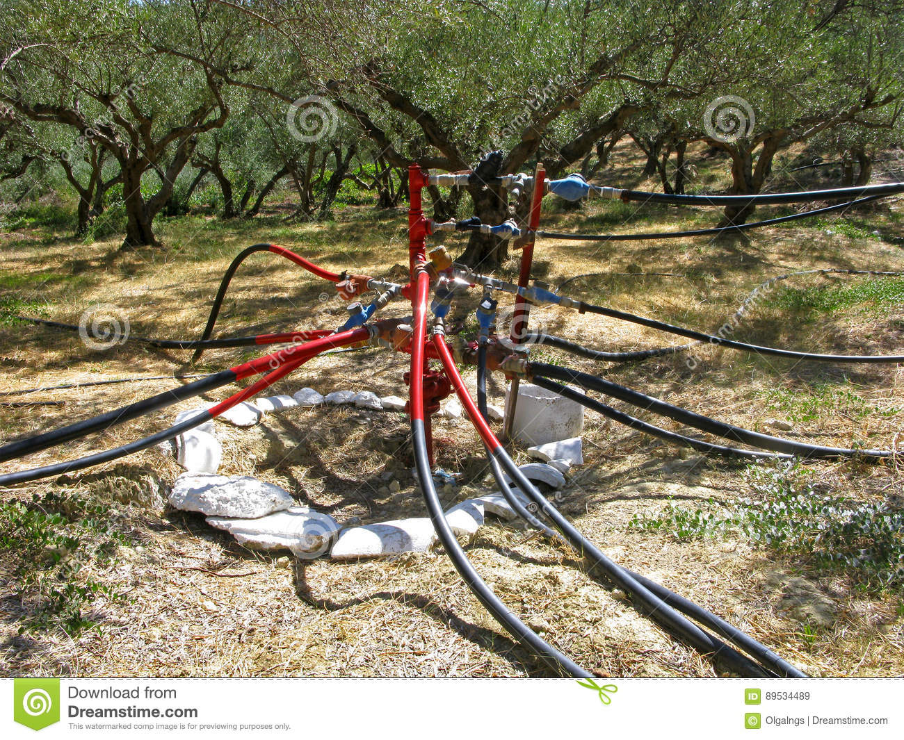 Water supply system stock image. Image of borehole, environment ...
