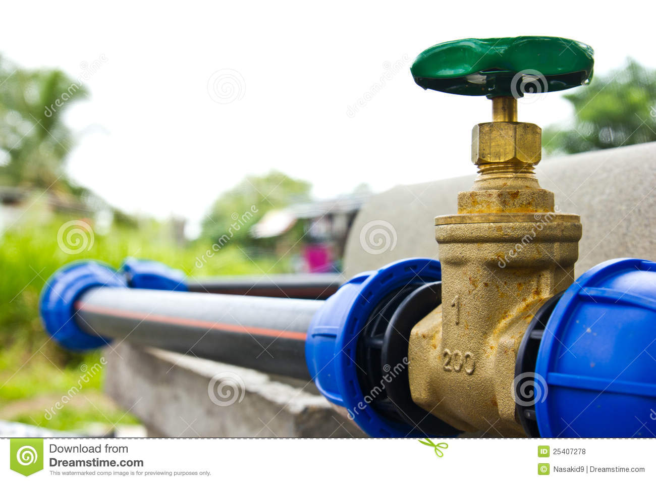 water supply valve stock photo  image of delivery  conduit