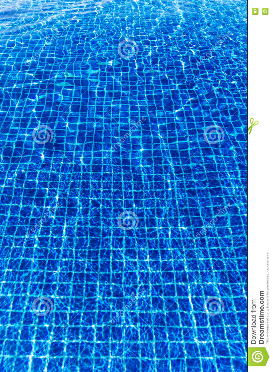 Blue Water Surface In Swimming Pool Stock Photo 74999778