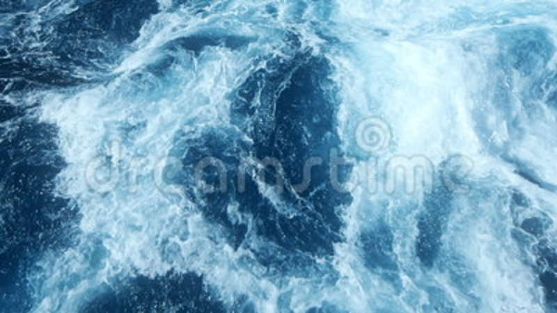 Water surface, seascape of wild water and ocean wave