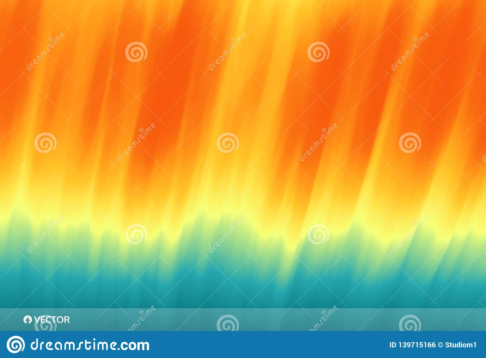 Water surface. Wave of ocean on the sandy beach. Nature background. Modern screen design for mobile app and web. Summer vector