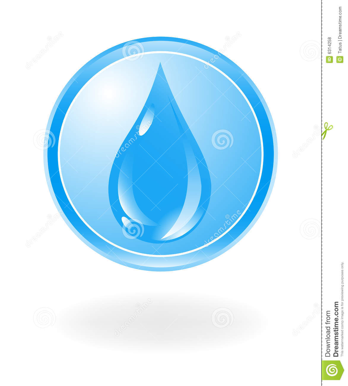 Water Symbol Royalty Free Stock Photos - Image: 6314258