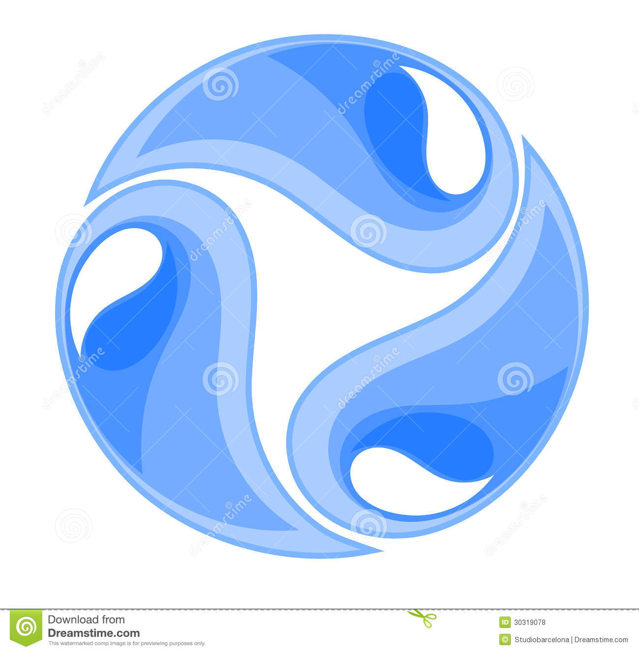 Water Symbol Royalty Free Stock Photos - Image: 30319078