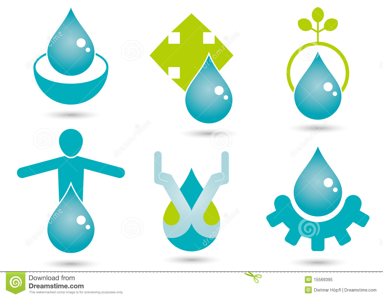 Water Symbols Stock Vector Illustration Of Shiny Graphics 15569395
