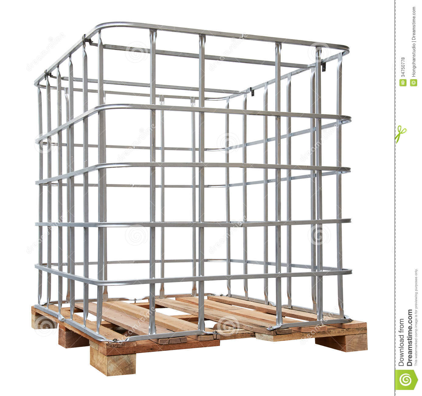 Water Tank Iron Frame stock photo. Image of construction - 34750778