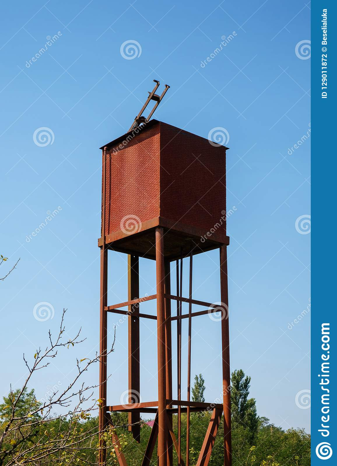 Water tank stock photo  Image of reserve, tall, reservoir - 129011872