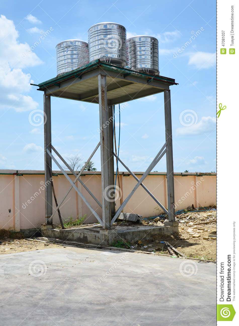 Water Tower Tank : Water tank tower plant stock image of container
