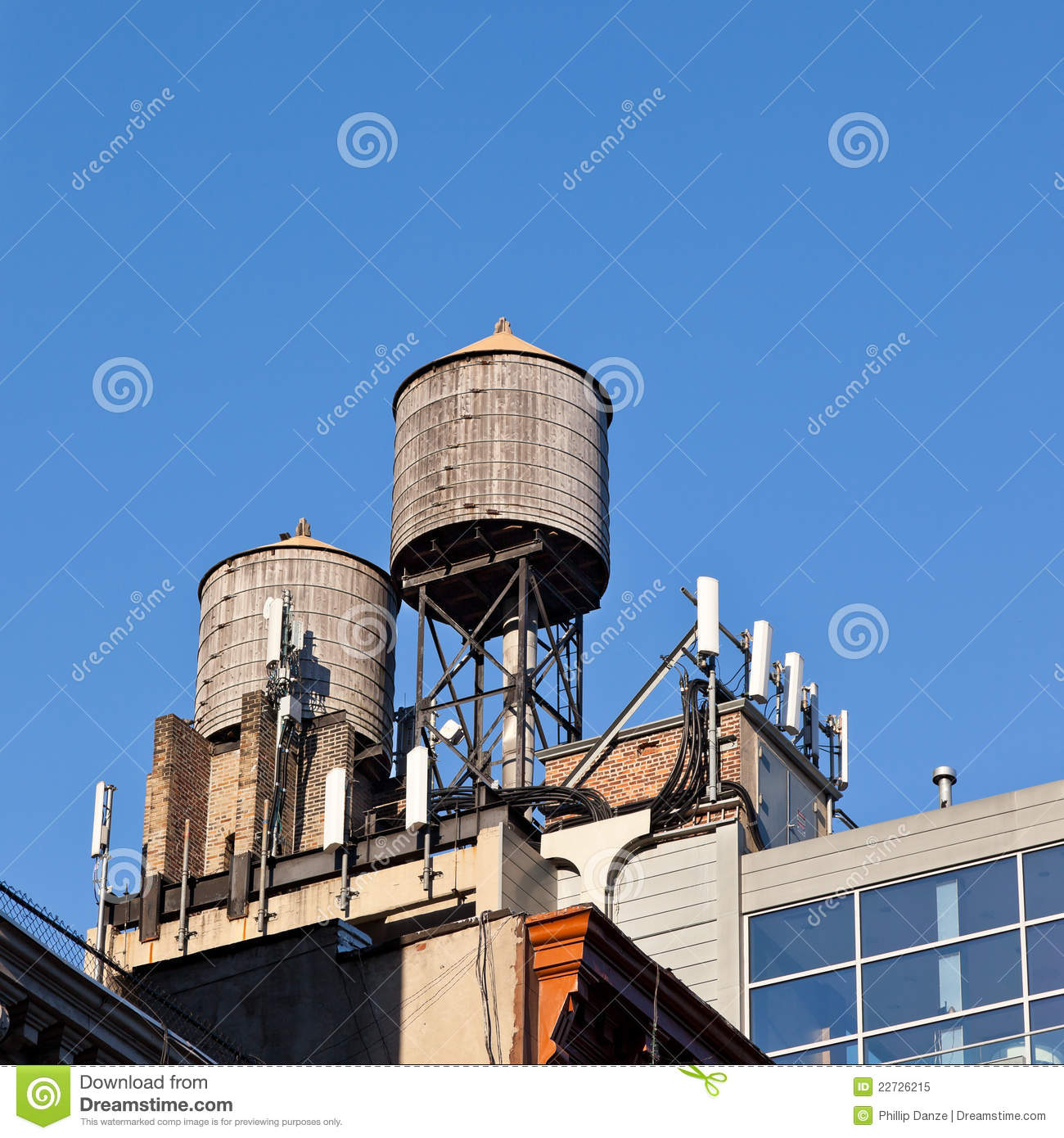Water tanks and cell phone receivers