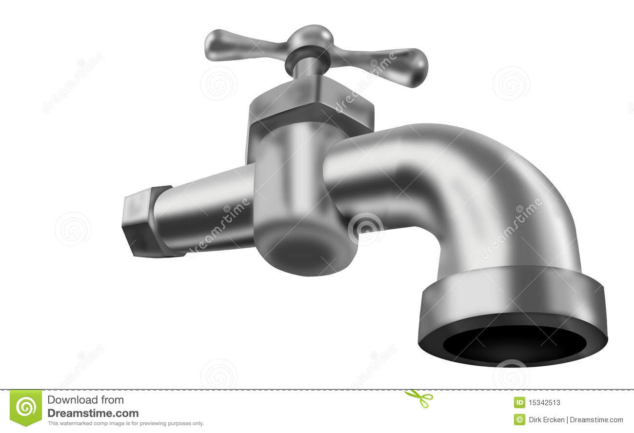 Water Tap Isolated Faucet Valve Plumbing Stock Illustration ...