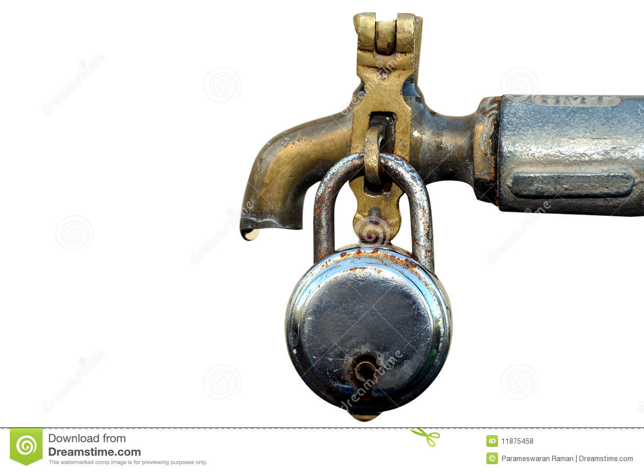 Water Tap With Lock Royalty Free Stock Photos Image