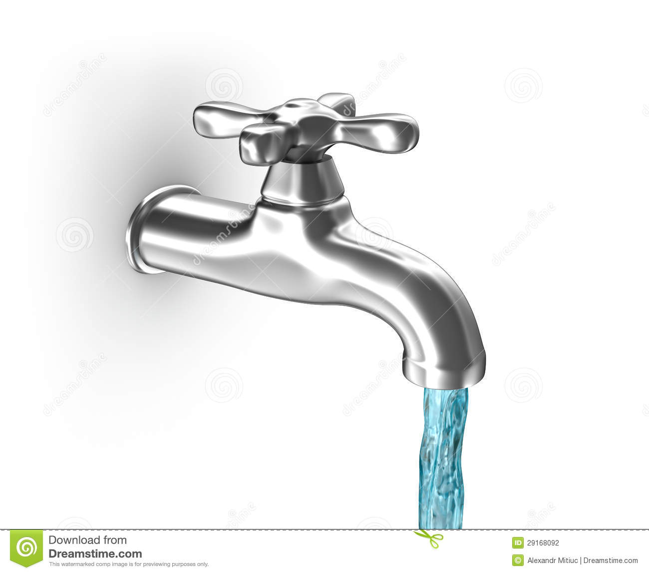 Water Tap With Running Water Stock Illustration