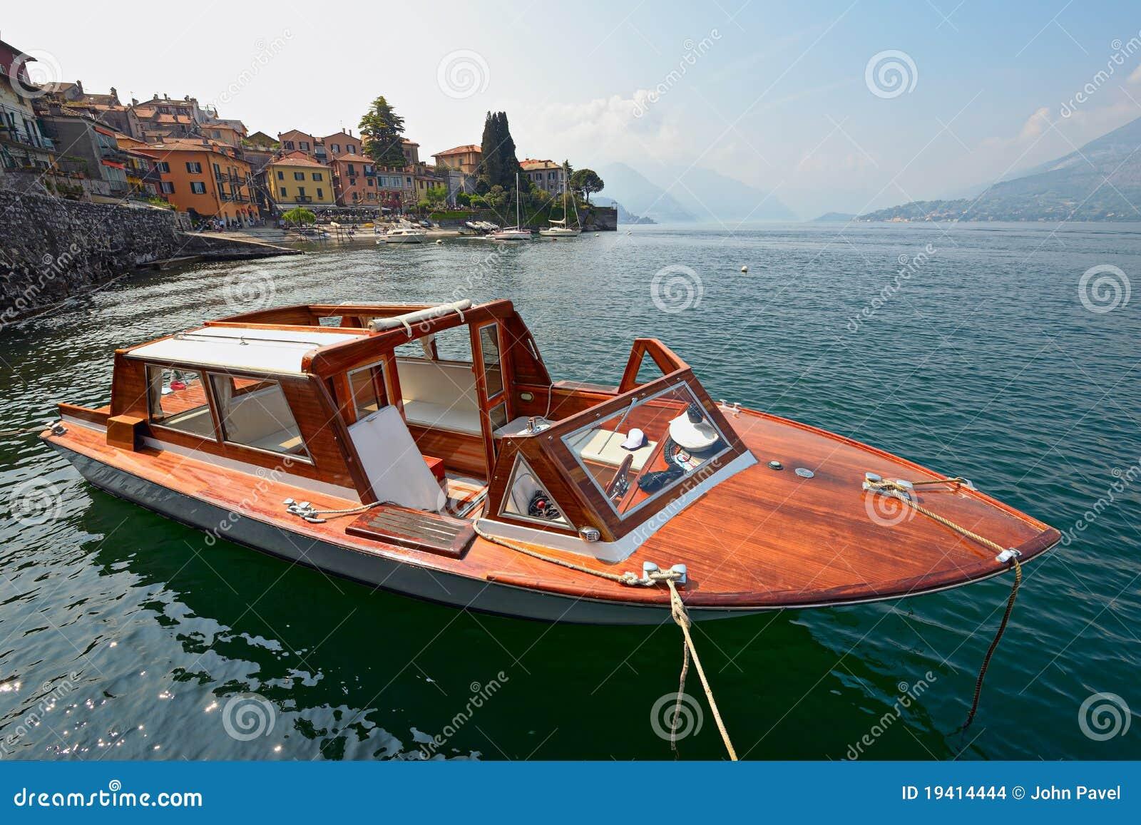 water taxi varenna lake como italy stock photo image of outside
