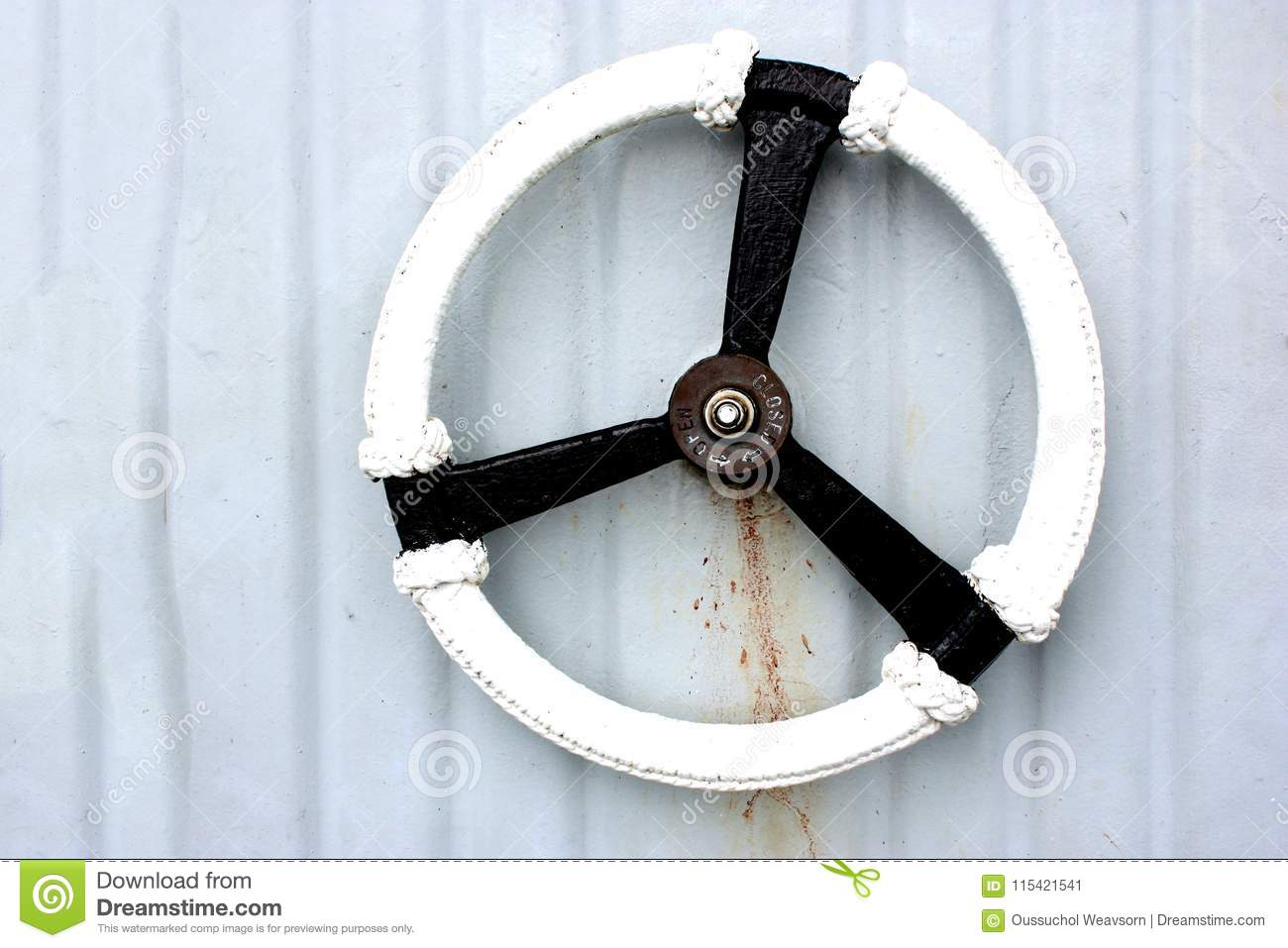 Water Tight Door Handle On A Ship Stock Image Image Of