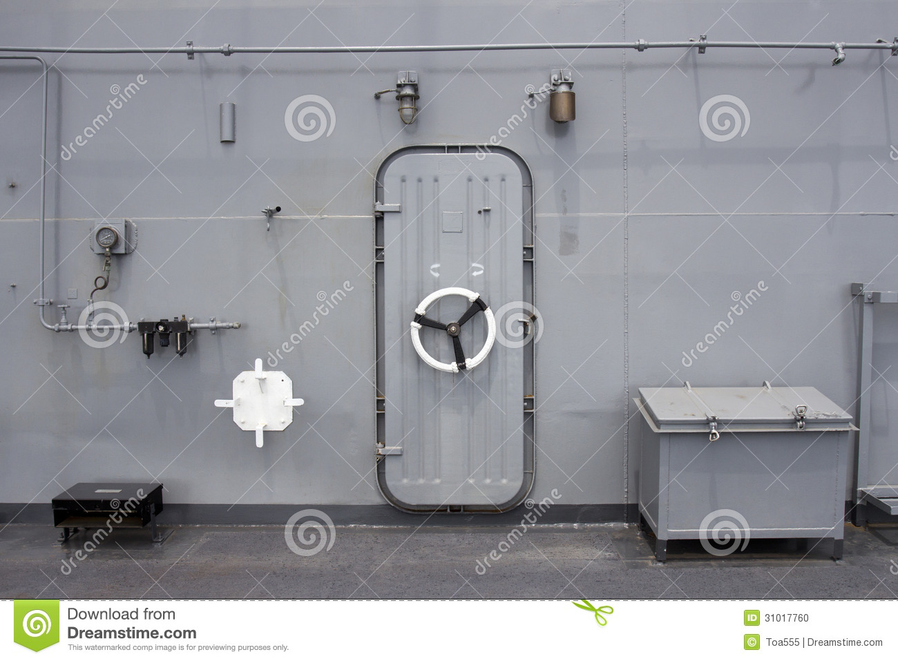 Water Tight Door On A Ship Stock Photo Image Of Water