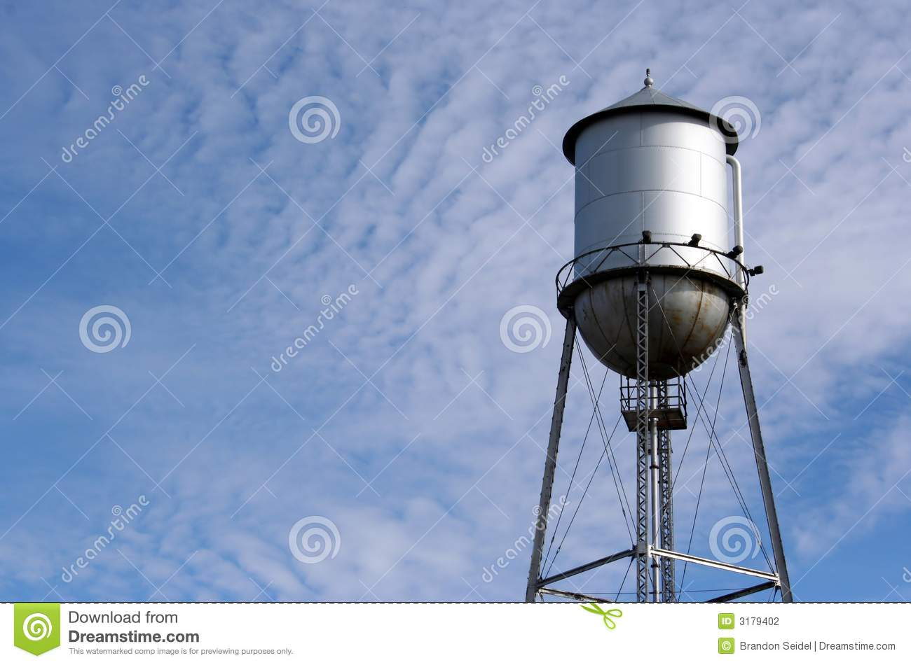 Water Tower on a Cloudy Sky