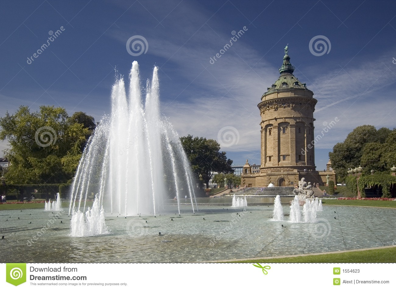 Mannheim Germany  city photos : The Water Tower In Mannheim, Germany Stock Photos Image: 1554623