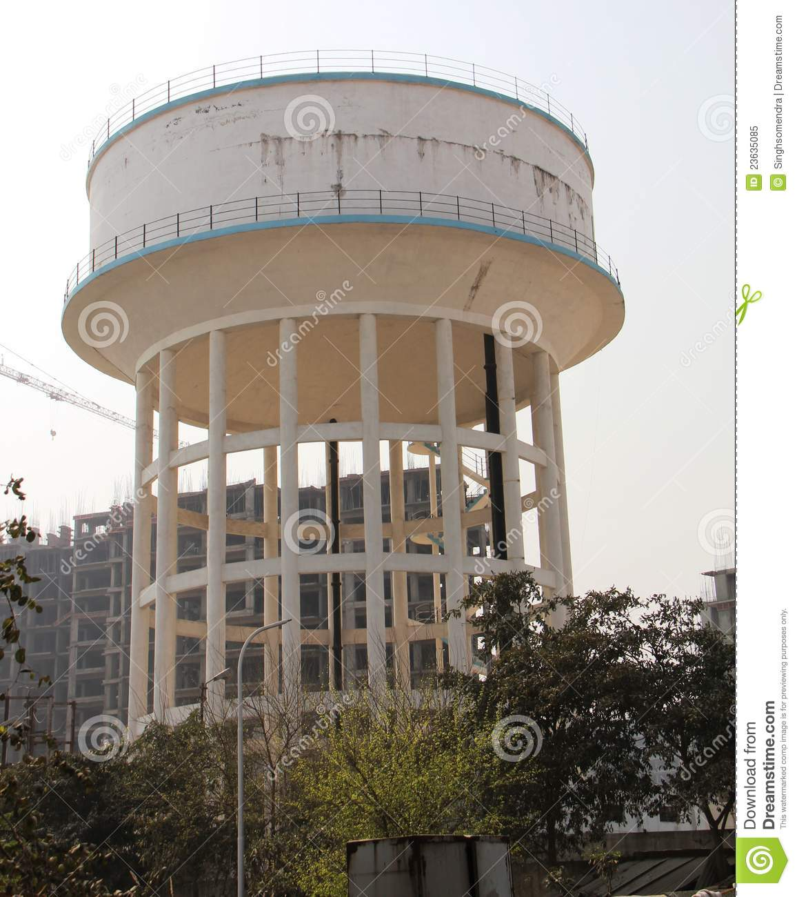 Water Tower Tank : Water tower tank storage building stock image of