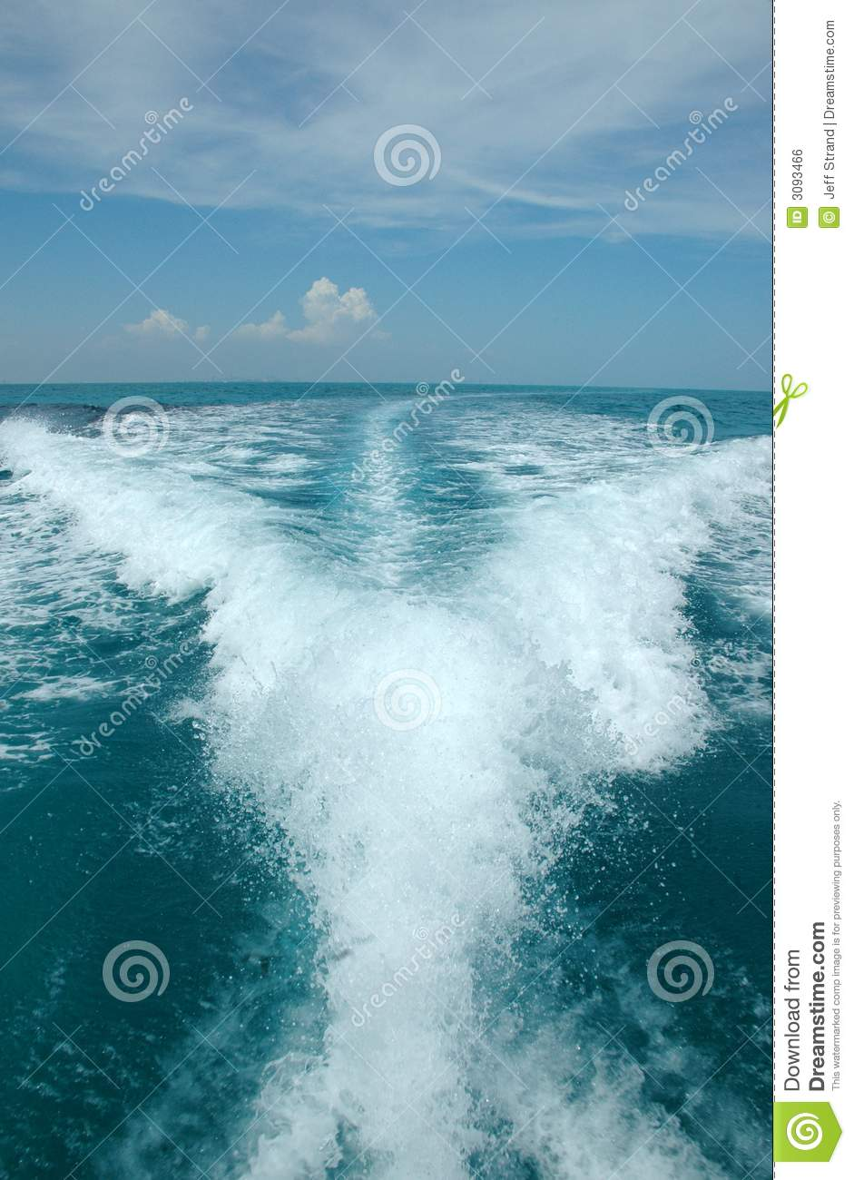 Water Trail Behind Boat Royalty Free Stock Image - Image ...
