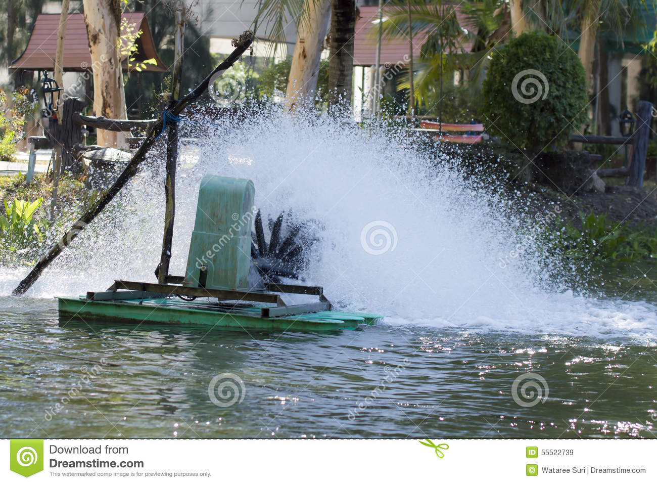 Water turbine stock image  Image of action, generator - 55522739