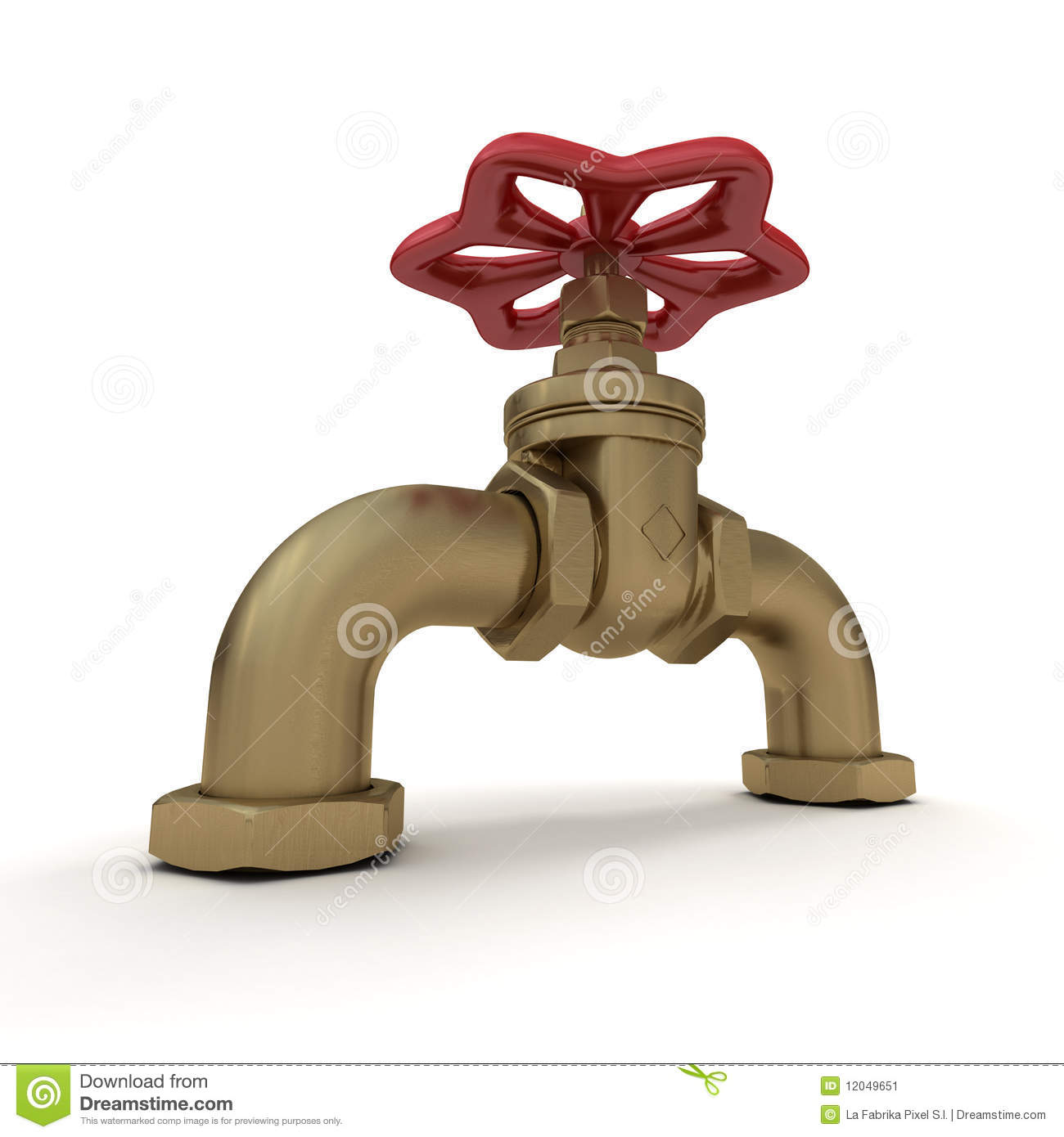 Water Valve In Red And Copper Stock Illustration Illustration Of