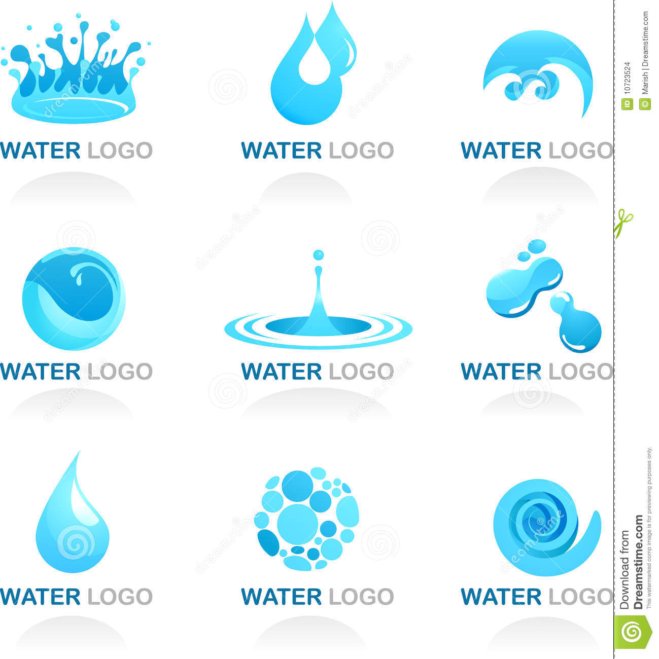 Water and wave design element stock vector illustration for Scuola web design