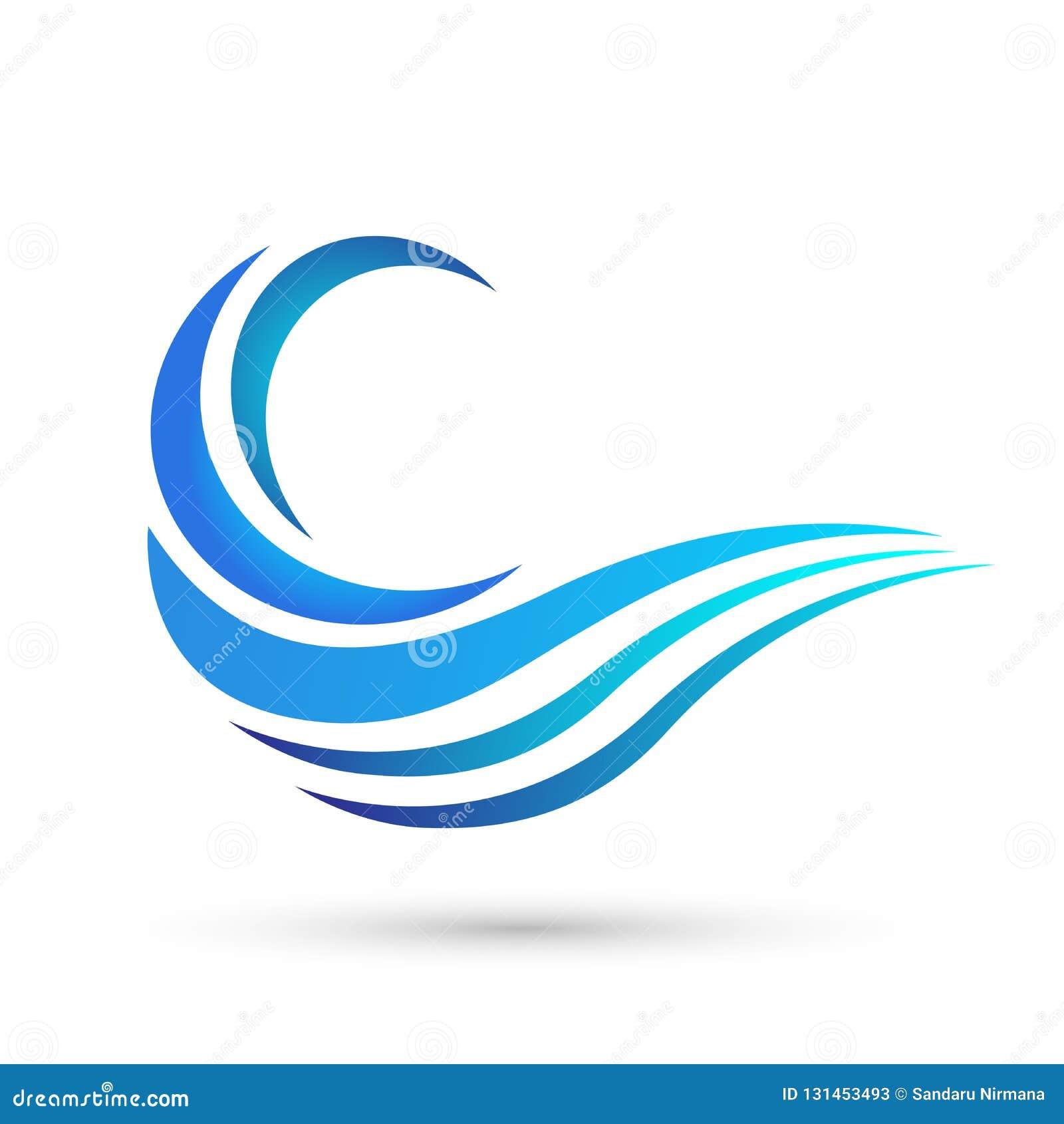 Water Wave Sea Wave Ocean Beach Logo Template Vector Clean Water