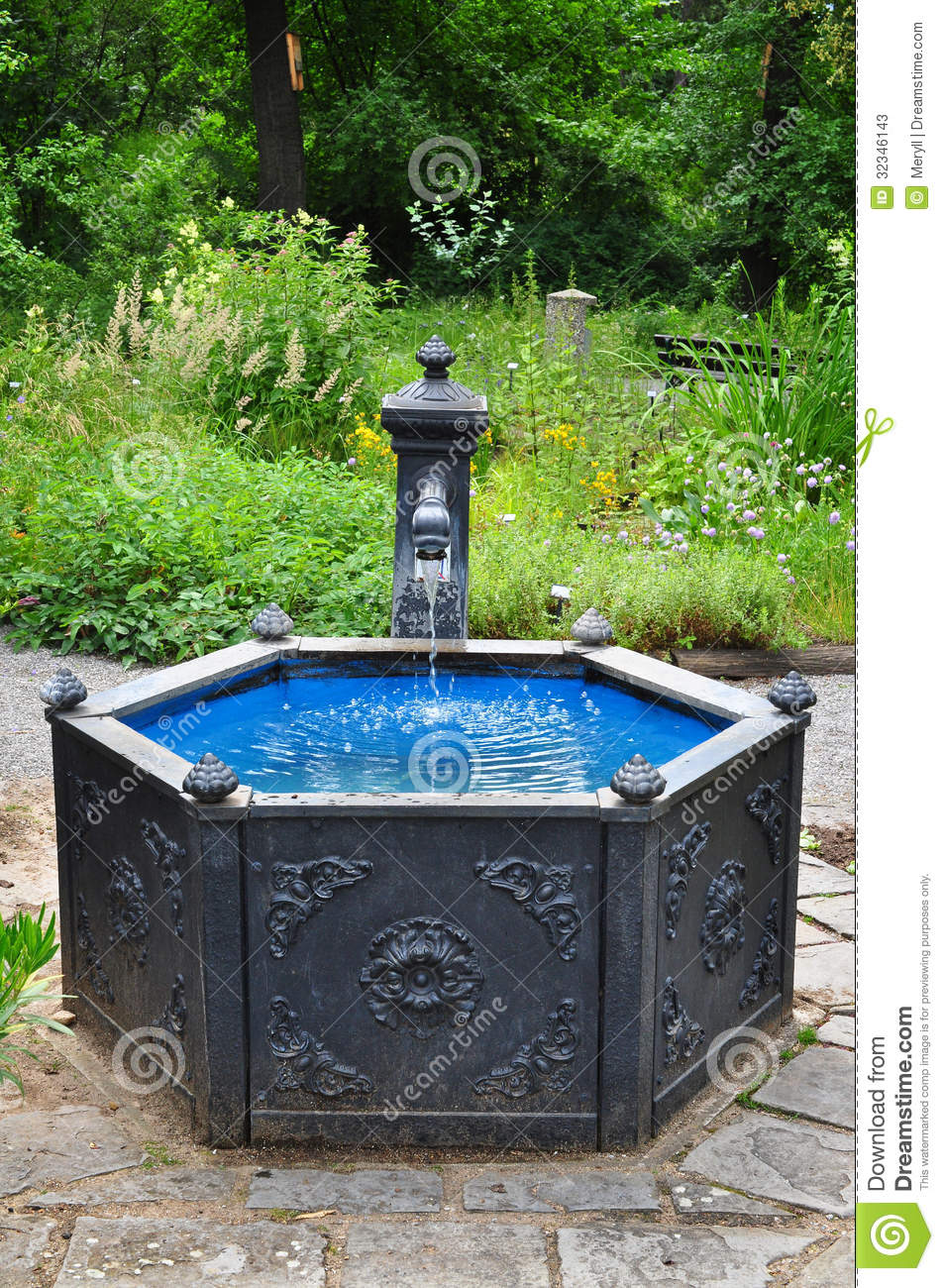 water well stock image image of garden outdoor fountain