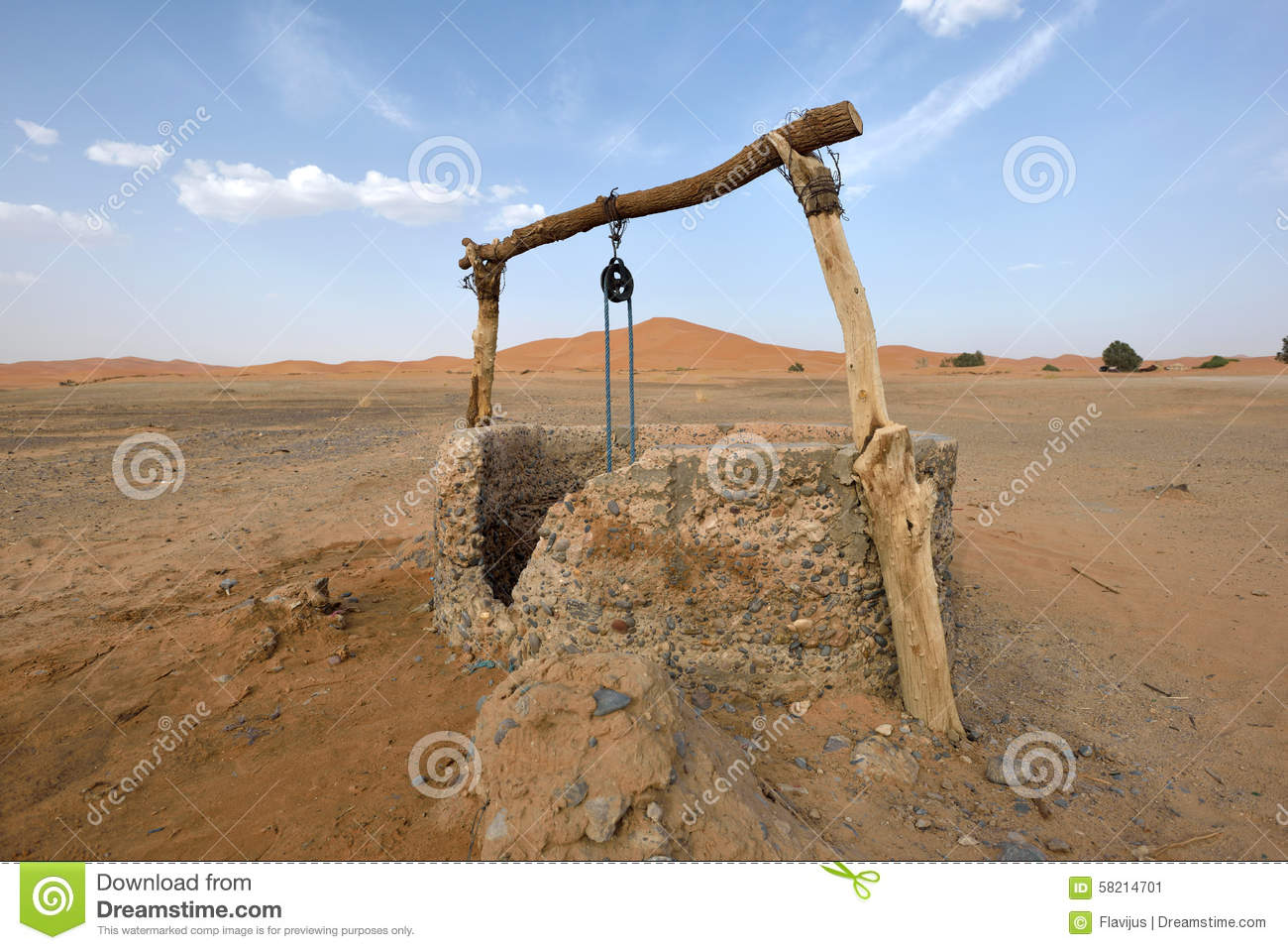 Water well in sahara desert morocco stock photo image for Well pictures