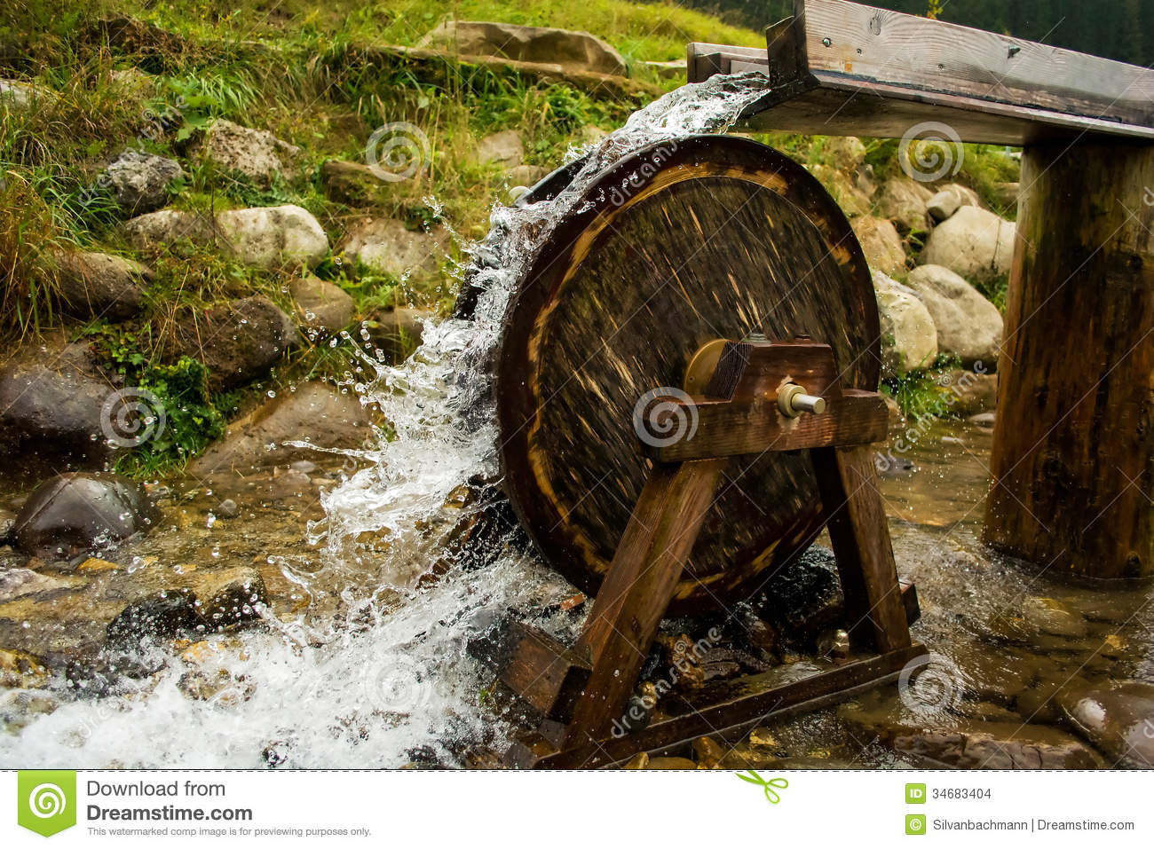 Marble Water Wheels : Water wheel stock photo image of close stone short