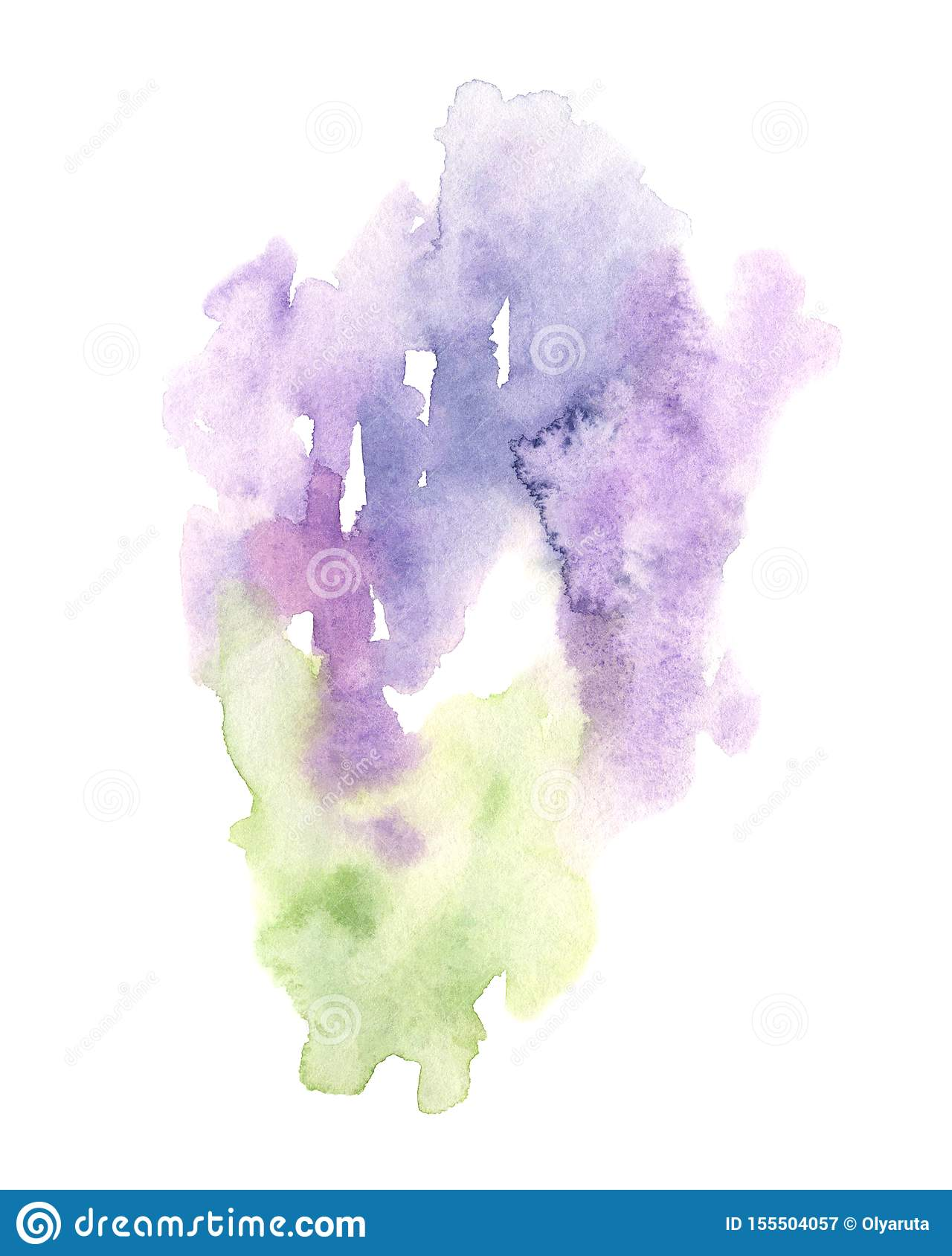 Watercolor abstract background in lavender colors