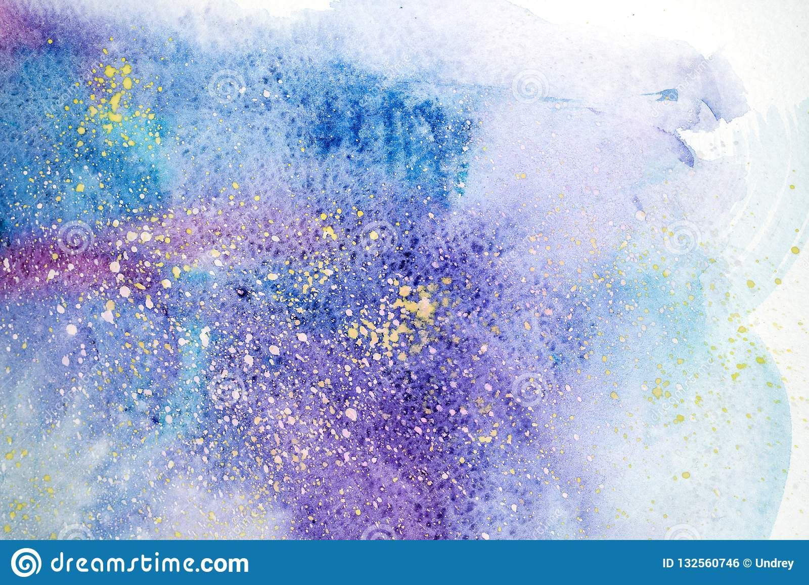 Watercolor abstract painting. Water color drawing. Watercolour blots texture background.