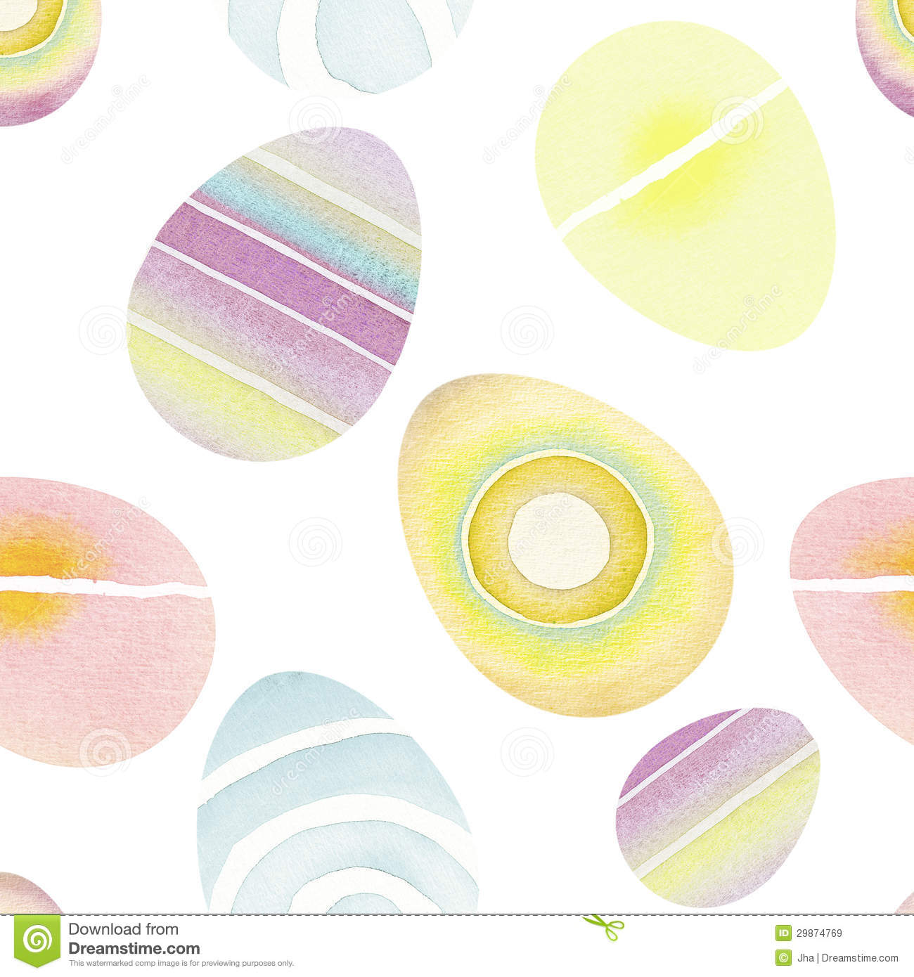Seamless Easter Eggs Background Royalty Free Stock Images
