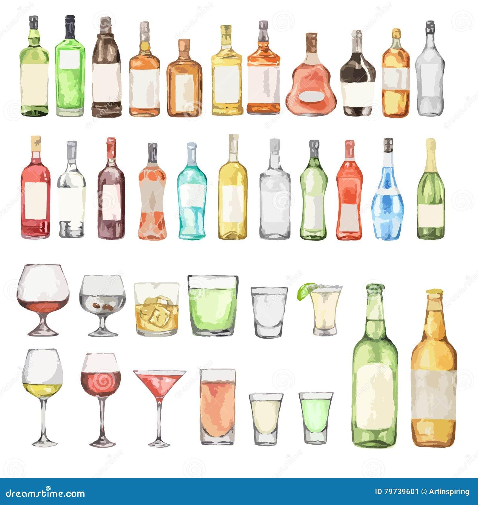 Watercolor alcohol set.