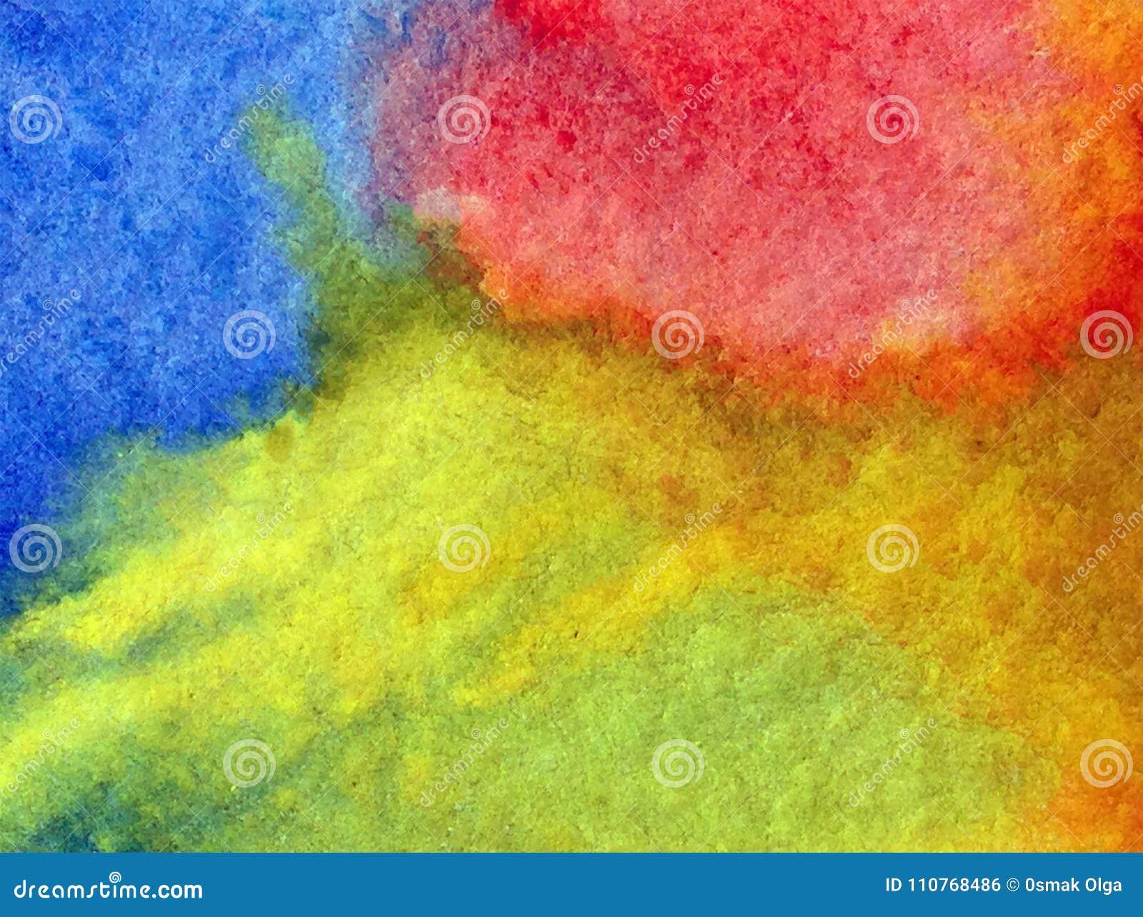 Watercolor art abstract background fresh sky sun shine beautiful modern textured wet wash blurred fantasy