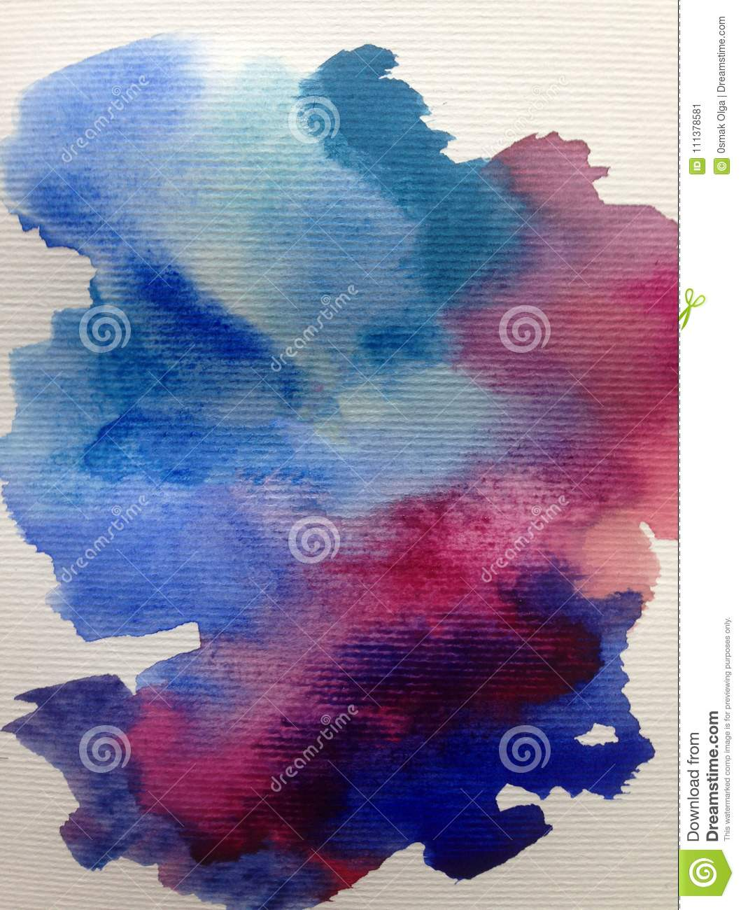 Watercolor art abstract background sky cloud texture wet wash blurred fantasy