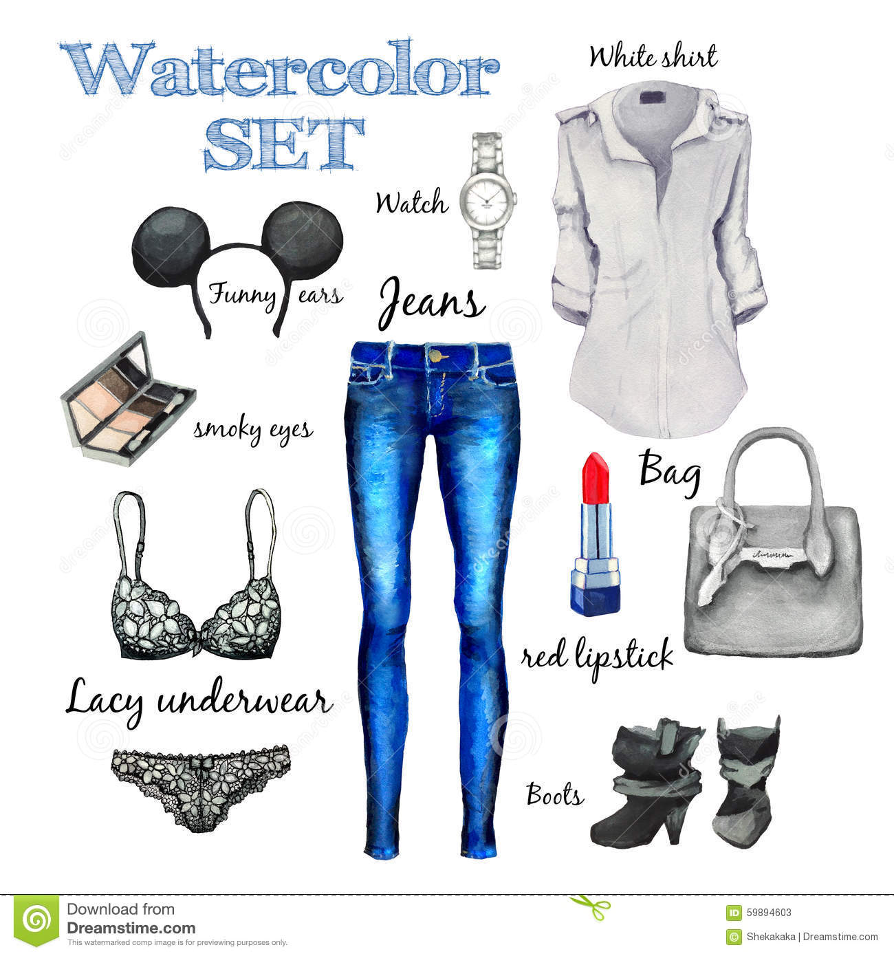Watercolor Autumn Classic Collection Fashion Style Items